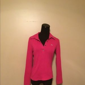 Lacoste Pink Long Sleeve Polo